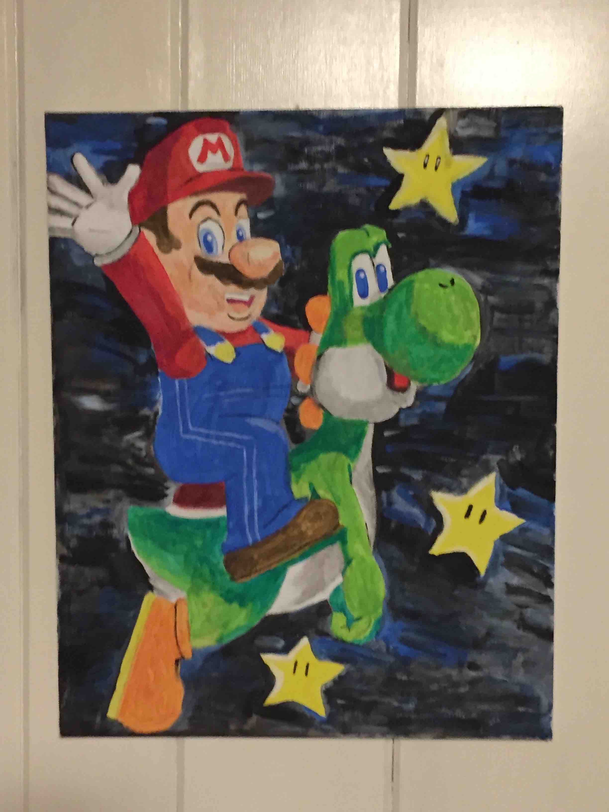 Mario and Yoshi in Space